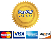Secure Payments via PayPal. PayPal Verified.